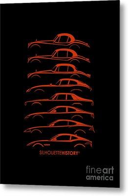 Big Cat Coupe Silhouettehistory Metal Print
