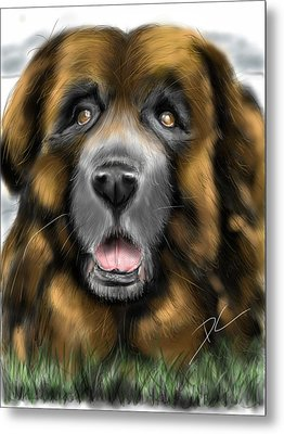 Metal Print featuring the digital art Big Dog by Darren Cannell