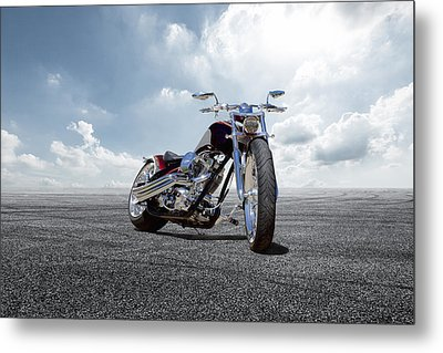 Metal Print featuring the photograph Big Dog Pitbull by Peter Chilelli