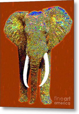Big Elephant 20130201p20 Metal Print by Wingsdomain Art and Photography
