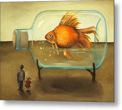 Big Fish Metal Print by Leah Saulnier The Painting Maniac