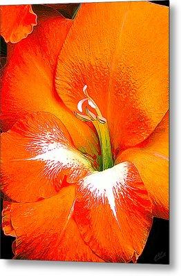 Big Glad In Bright Orange Metal Print