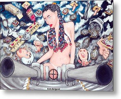 Big Gunz A Blazn Metal Print by Eddie Sargent