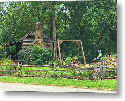 Big Holly Cabin Metal Print