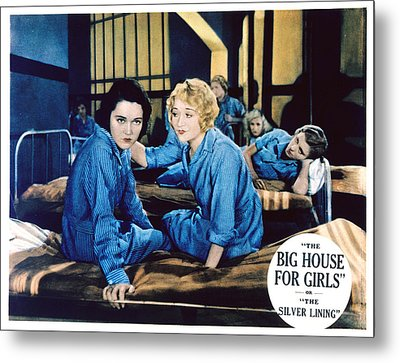 Big House For Girls Aka The Silver Metal Print by Everett
