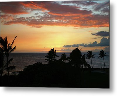 Metal Print featuring the photograph Big Island Sunset by Anthony Jones