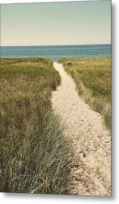 Big Lake Beach Path Metal Print by Michelle Calkins