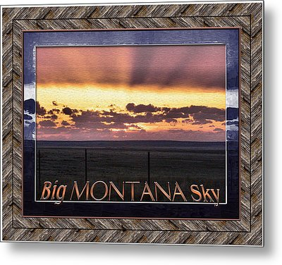 Metal Print featuring the photograph Big Montana Sky by Susan Kinney