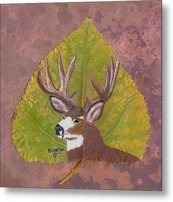 Big Mule Deer Buck Metal Print by Ralph Root