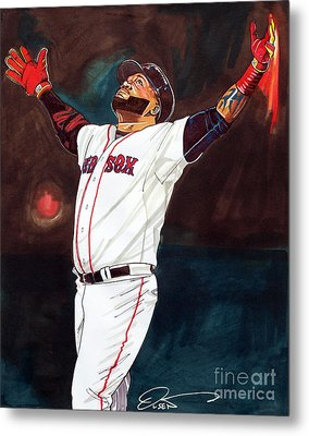 Big Papi David Ortiz Metal Print