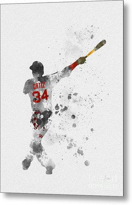 Big Papi Metal Print by Rebecca Jenkins
