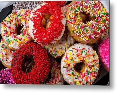 Big Pile Of Donuts Metal Print by Garry Gay