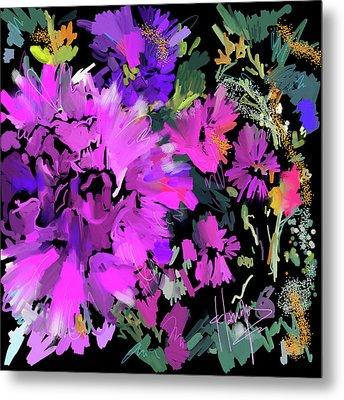 Big Pink Flower Metal Print by DC Langer