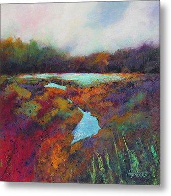 Big Pond In Fall Mc Cormick Woods Metal Print by Marti Green