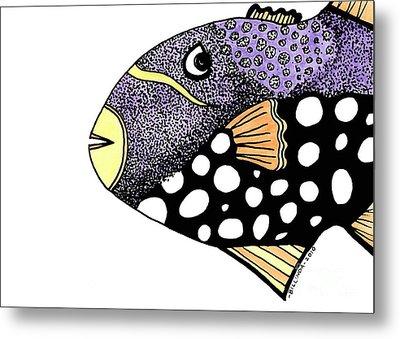 Big Purple Fish Metal Print