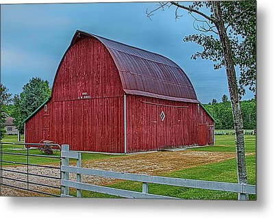 Metal Print featuring the photograph Big Red Barn At Cross Village by Bill Gallagher
