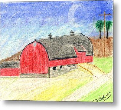 Big Red Barn Metal Print by John Hoppy Hopkins