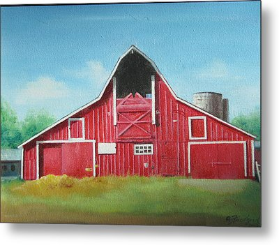 Big Red Barn Metal Print by Oz Freedgood