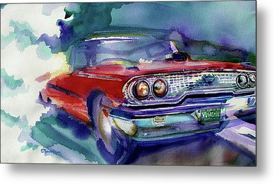 Big Red Metal Print by Evelyn Sprouse Rowe