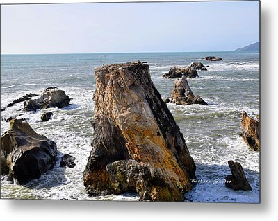 Metal Print featuring the photograph Big Rocks In Grey Water by Barbara Snyder