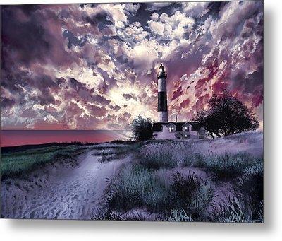 Big Sable Lighthouse 2 Metal Print by Bekim Art