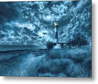 Big Sable Lighthouse 3 Metal Print by Bekim Art
