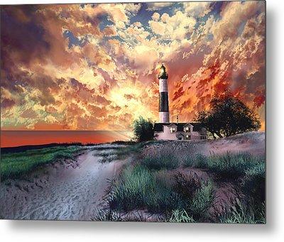 Big Sable Lighthouse Metal Print by Bekim Art