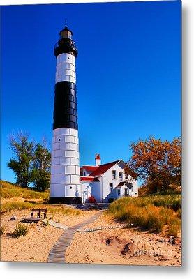 Big Sable Point Lighthouse Metal Print by Nick Zelinsky