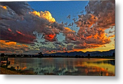 Metal Print featuring the photograph Big Sky by Eric Dee