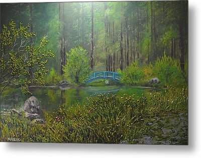 Big Springs Gardens Metal Print