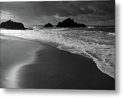Big Sur Black And White Metal Print by Pierre Leclerc Photography