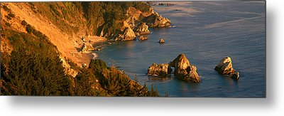 Big Sur In Springtime, California Metal Print by Panoramic Images