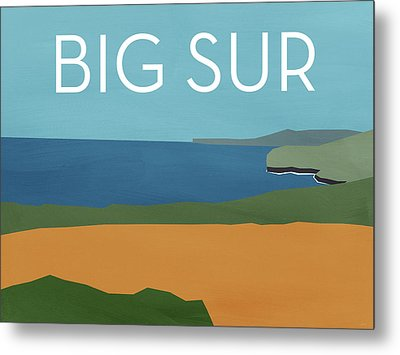 Big Sur Landscape- Art By Linda Woods Metal Print by Linda Woods