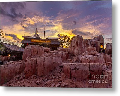 Big Thunder Mountain Sunset Metal Print