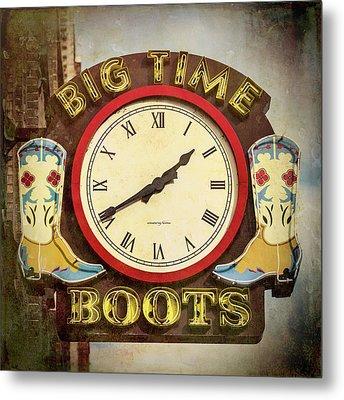 Big Time Boots - Nashville Metal Print