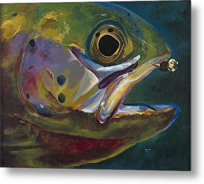 Big Trout Metal Print by Les Herman