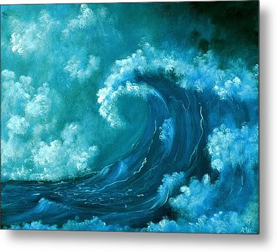 Metal Print featuring the painting Big Wave by Anastasiya Malakhova