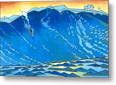 Big Wave Metal Print