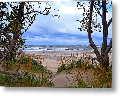 Big Waves On Lake Michigan 2.0 Metal Print by Michelle Calkins