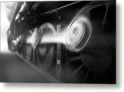 Big Wheels In Motion Metal Print by Mike McGlothlen