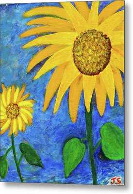 Big Yellow Metal Print by John Scates