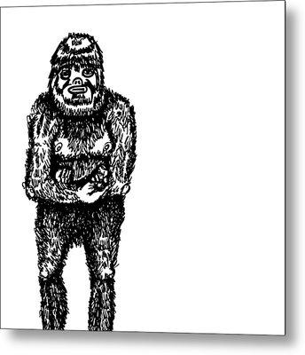 Bigfoot Metal Print by Karl Addison