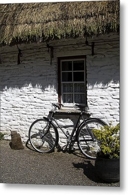 Bike At The Window County Clare Ireland Metal Print by Teresa Mucha