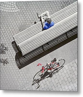 Metal Print featuring the photograph Bike Break by Keith Armstrong