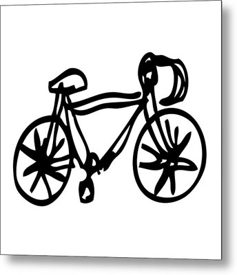 Bike Drawing Metal Print by Karl Addison