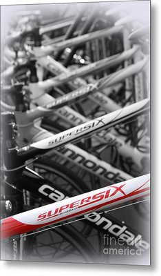 Bike Frames Metal Print