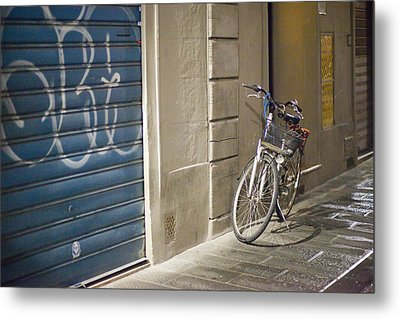 Bike In Florence Metal Print by Andre Goncalves