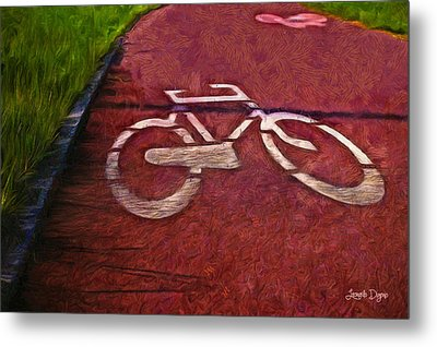 Bike Lane - Pa Metal Print by Leonardo Digenio