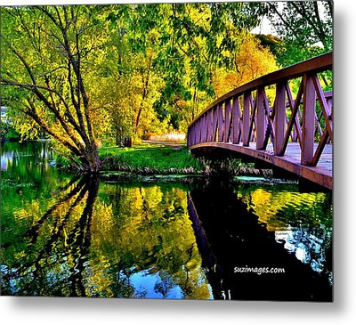 Bike Path Bridge Metal Print