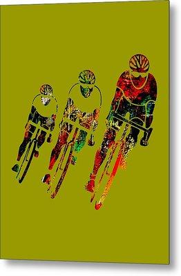 Bike Race Metal Print by Marvin Blaine